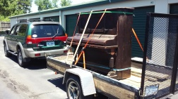 Another piano came to the storage unit