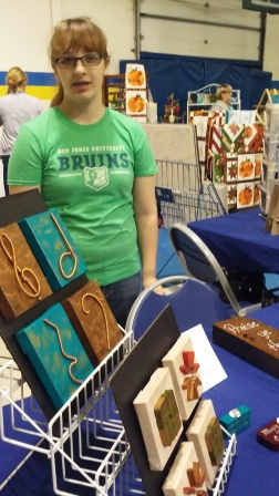 Mary Beth helps me at craft fairs (when she is not at college)