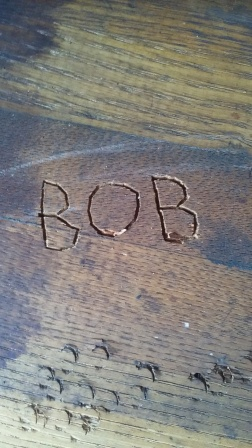 His initials are forever carved in my piano workbench.