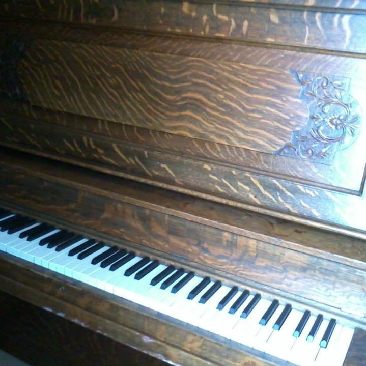 Lyon & Healy upright grand piano