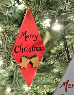 "Ornament: ""Merry Christmas"""