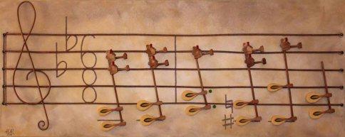 """Sheet Music (18""""x40"""")"""