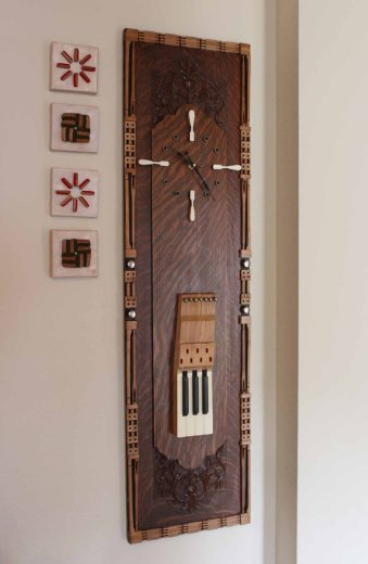"""Maestro"" clock made from the centerpiece"