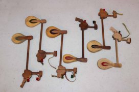 Hammers from various upright pianos