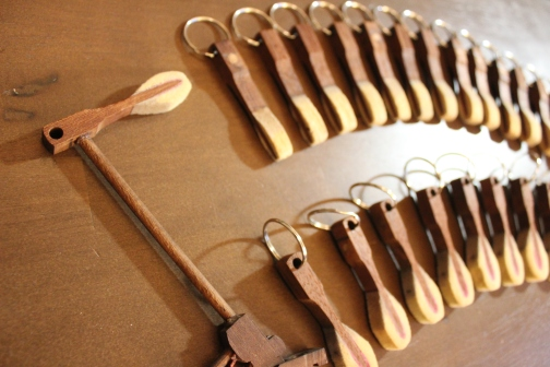 Key chains, Steinway hammers