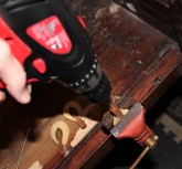 Drilling the pilot hole